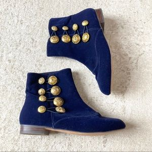 Shelly's London Blue Cadet Booties Military Boots